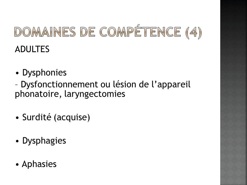 Domaines de compétence (4)