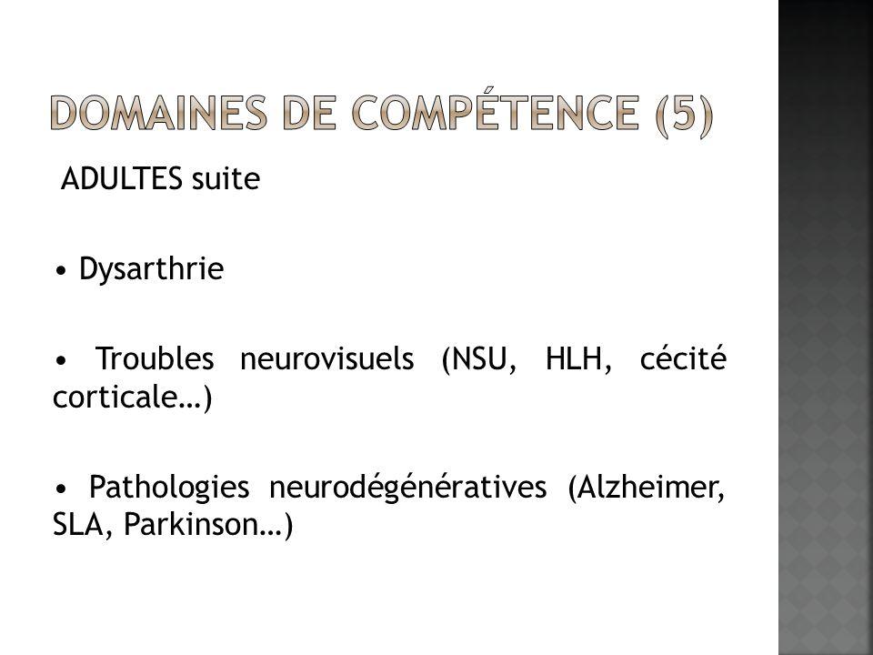 Domaines de compétence (5)