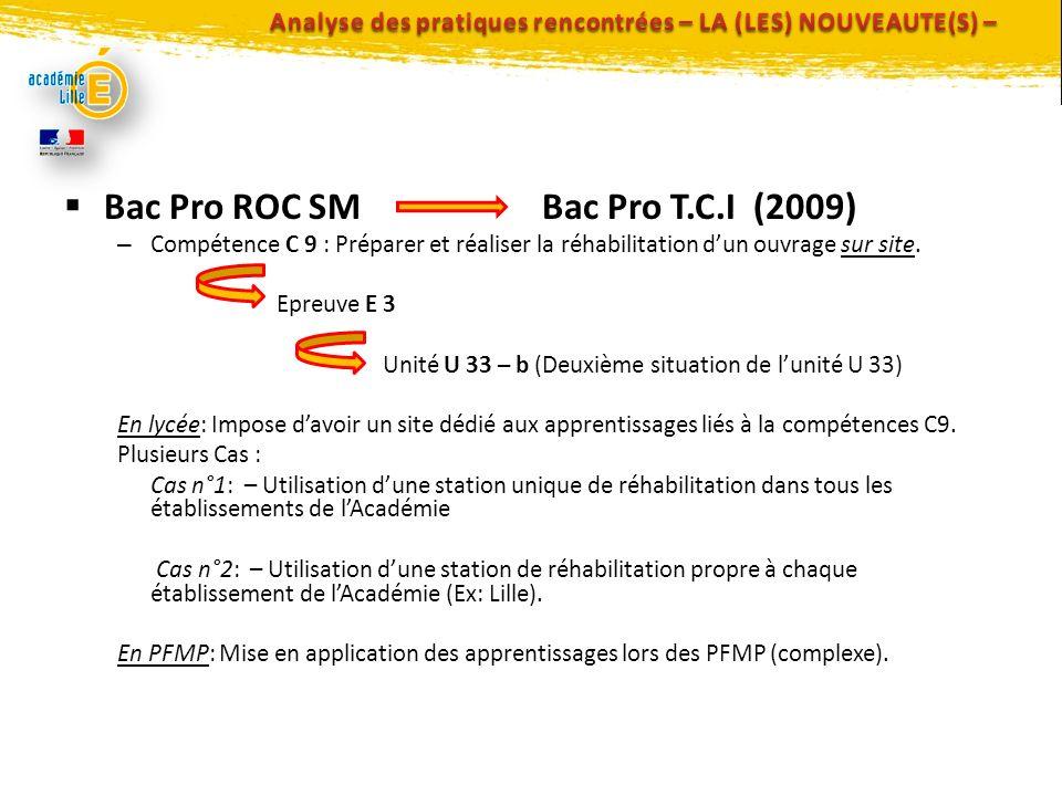 Analyse des pratiques rencontrées – LA (LES) NOUVEAUTE(S) –