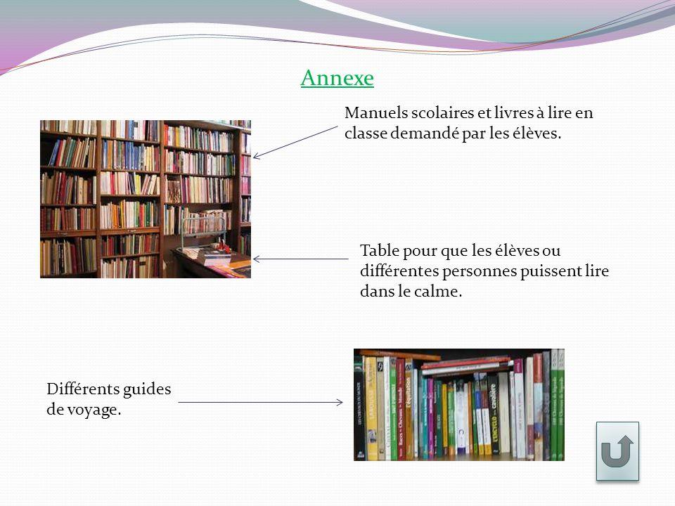 Annexe Manuels scolaires et livres à lire en classe demandé par les élèves.