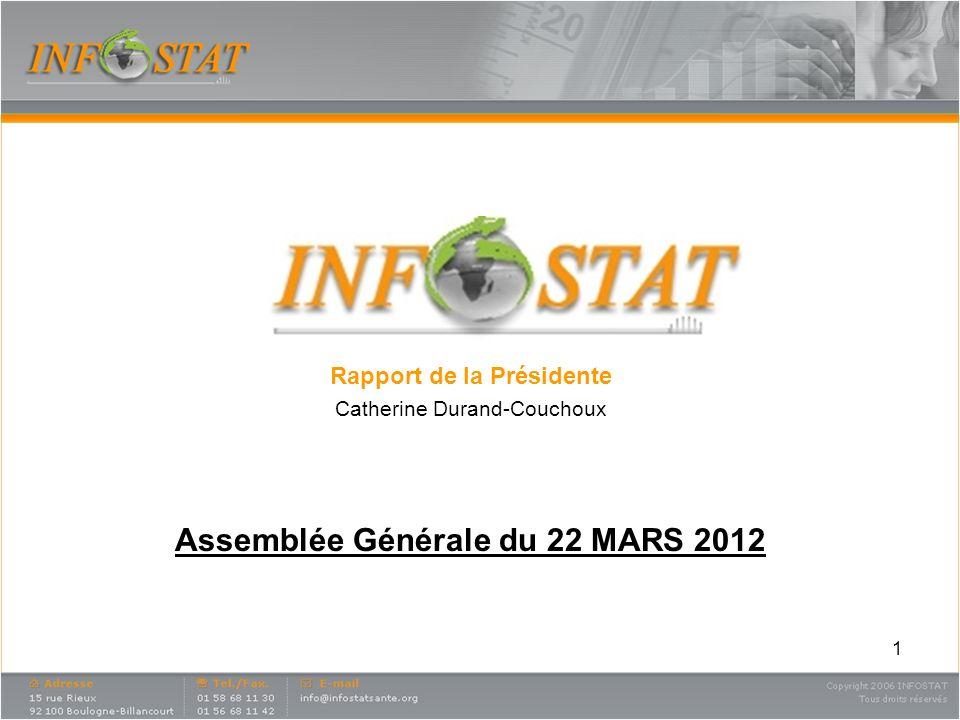 Rapport de la Présidente Assemblée Générale du 22 MARS 2012