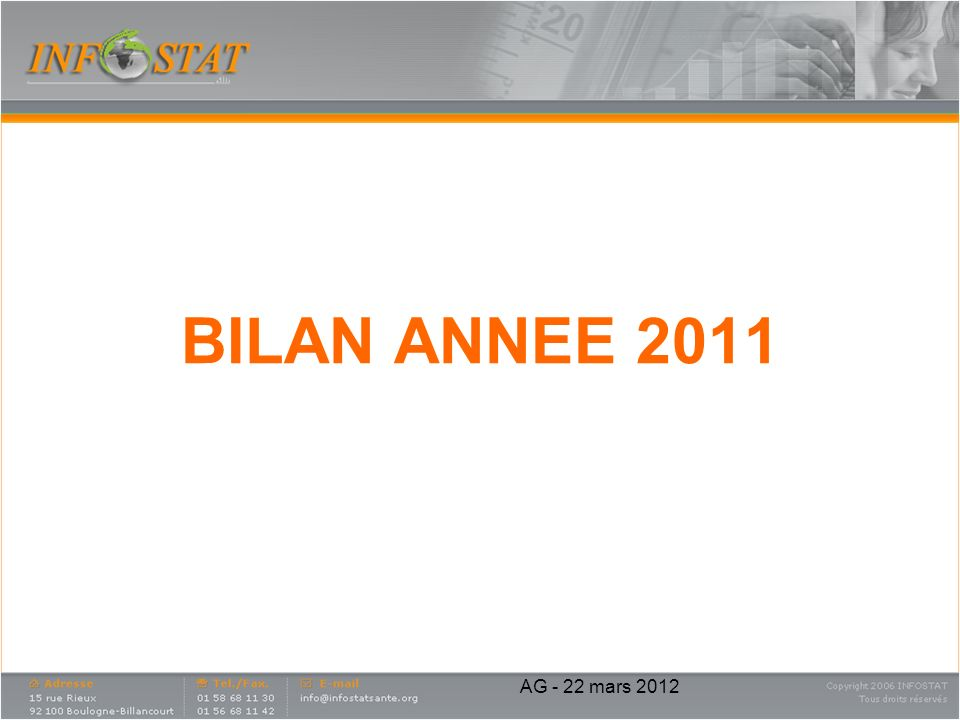 BILAN ANNEE 2011 AG - 22 mars 2012