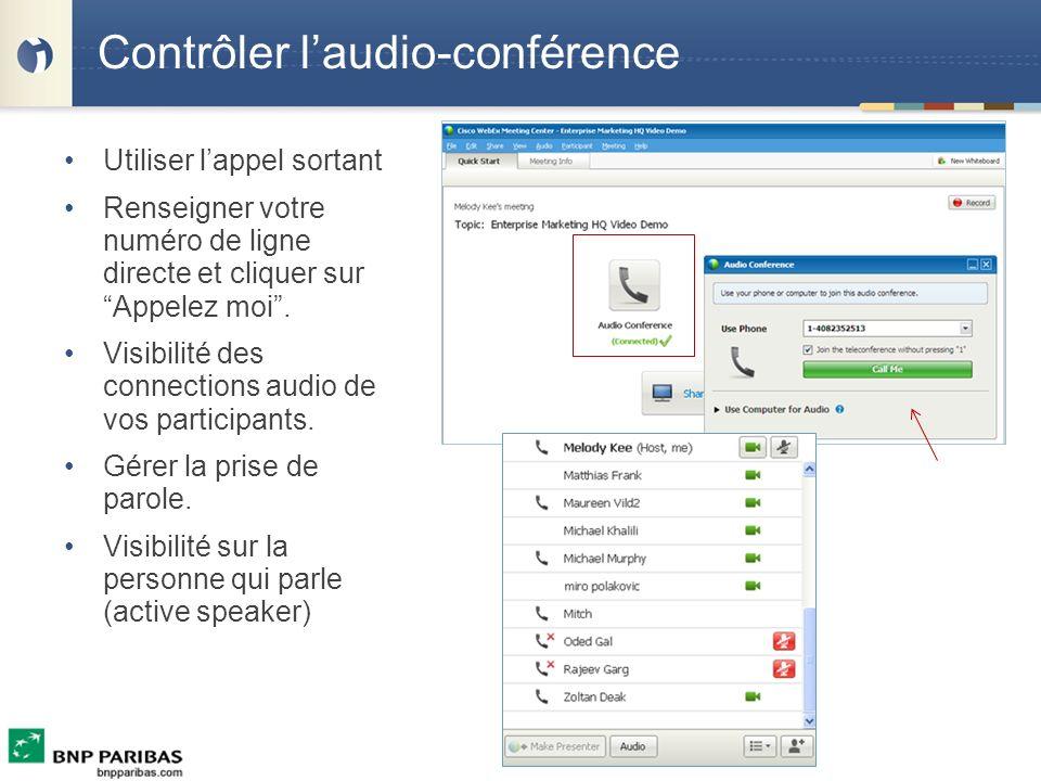 Contrôler l'audio-conférence