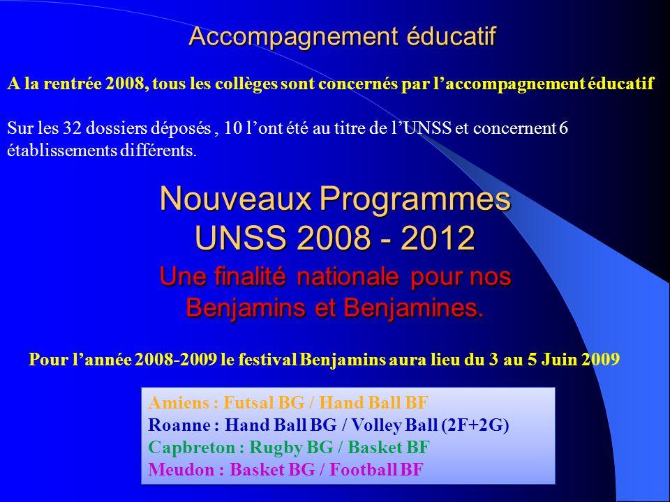 Nouveaux Programmes UNSS 2008 - 2012