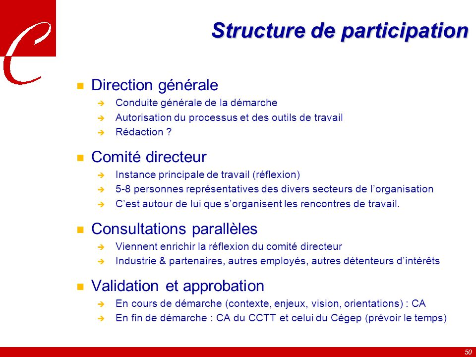 Structure de participation