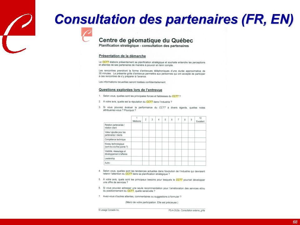 Consultation des partenaires (FR, EN)