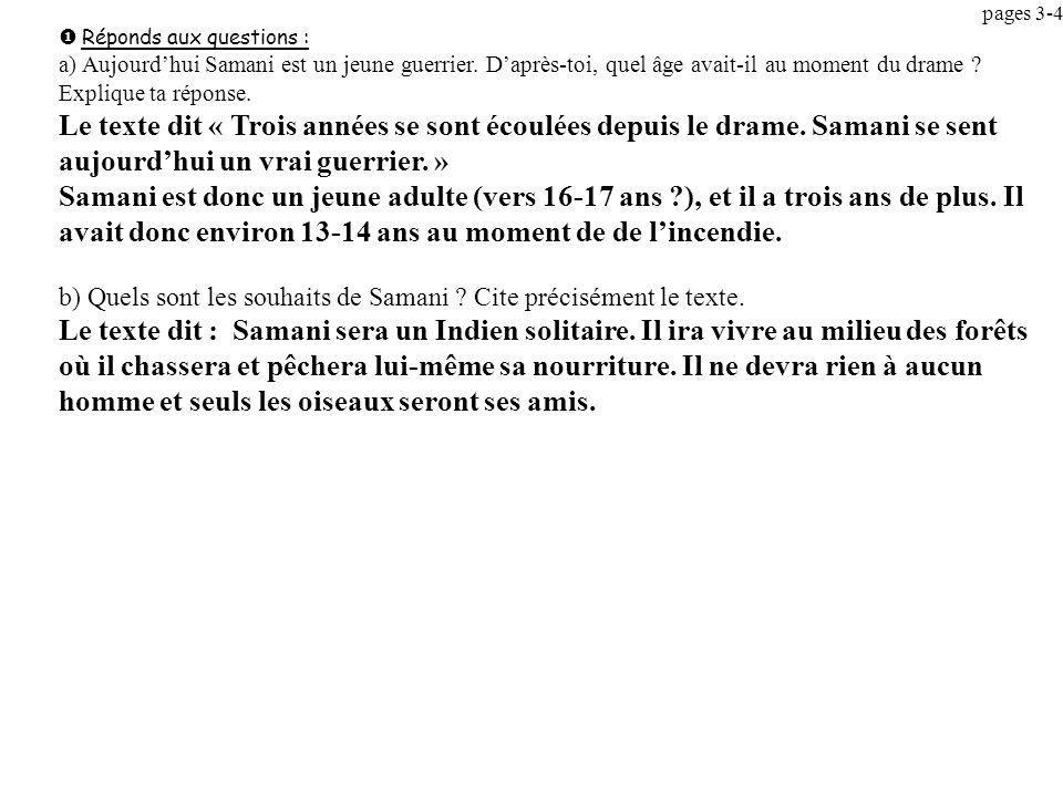pages 3-4 u Réponds aux questions :