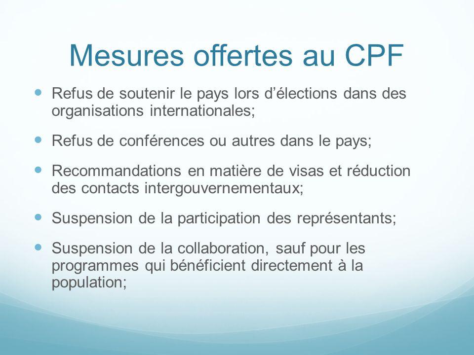 Mesures offertes au CPF