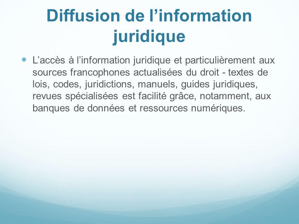 Diffusion de l'information juridique