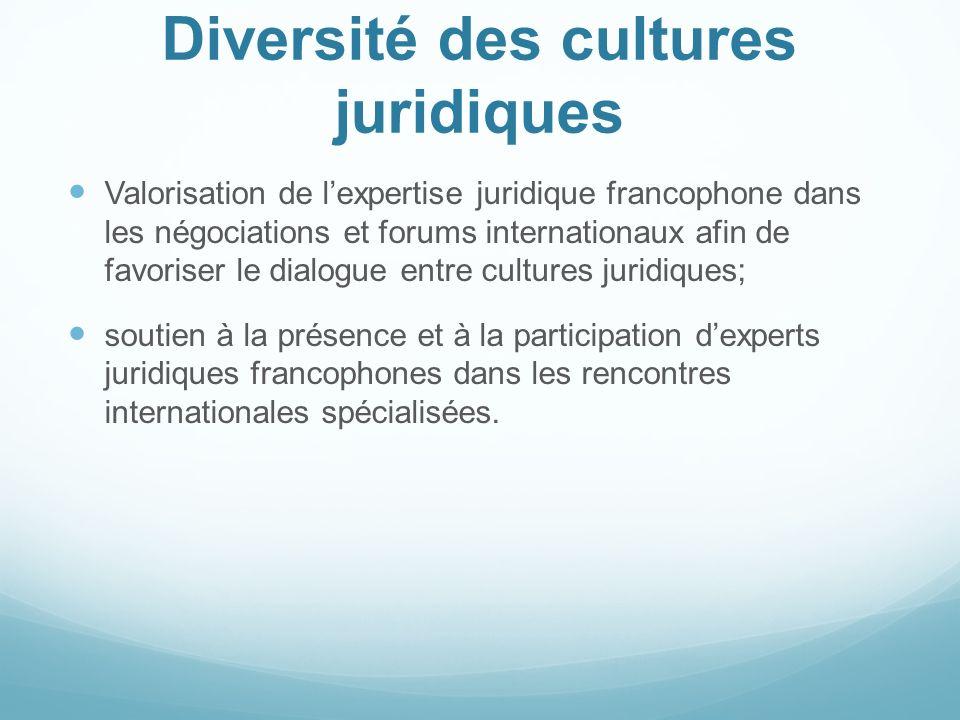 Diversité des cultures juridiques