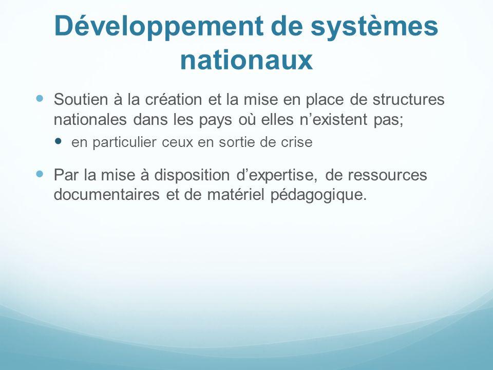 Développement de systèmes nationaux