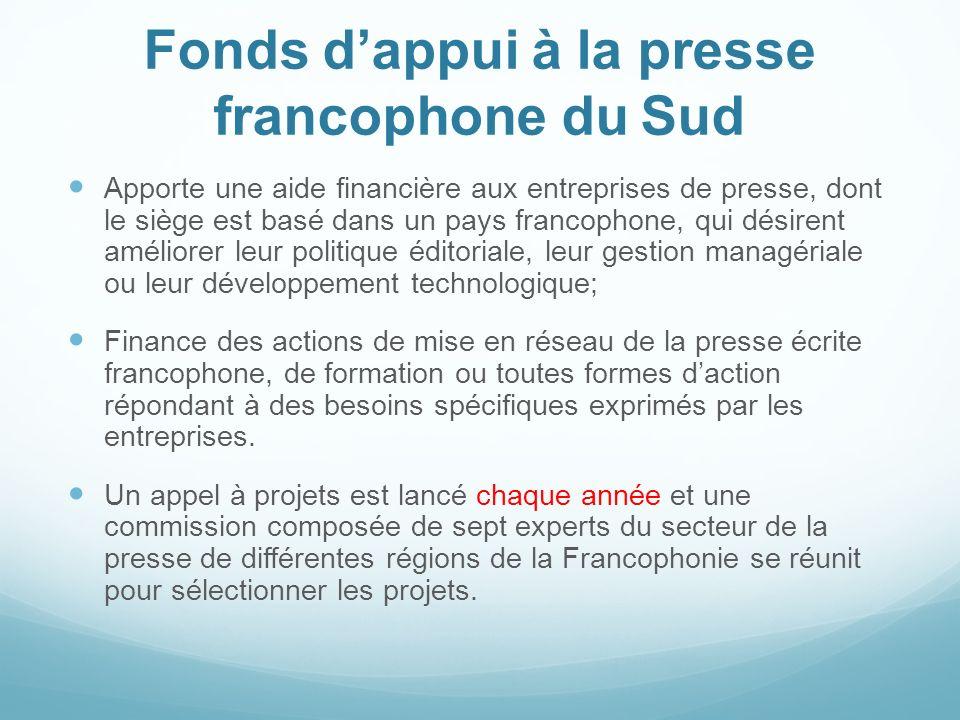 Fonds d'appui à la presse francophone du Sud