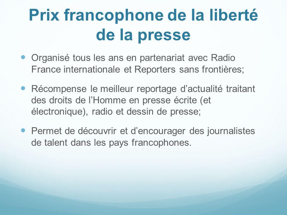 Prix francophone de la liberté de la presse
