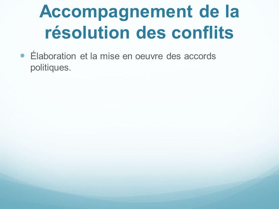 Accompagnement de la résolution des conflits