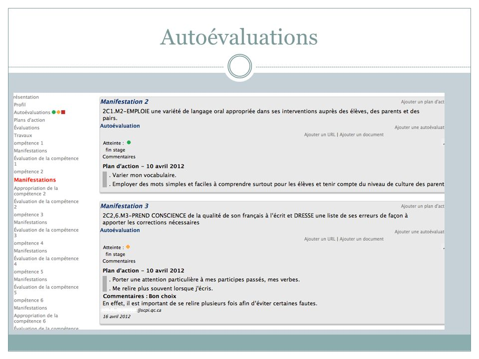 Autoévaluations