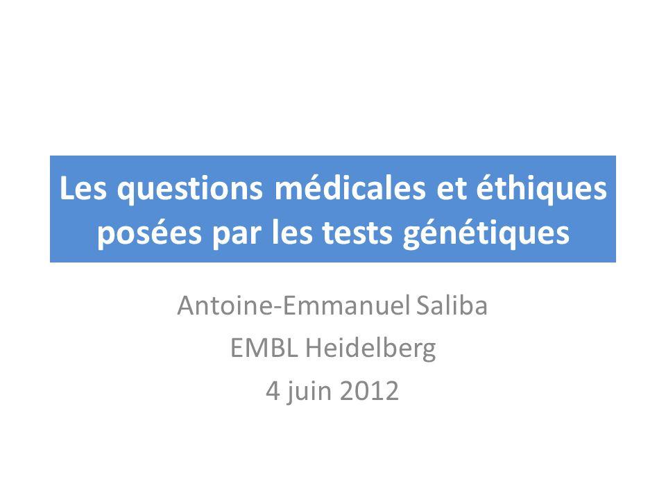 Les questions médicales et éthiques posées par les tests génétiques