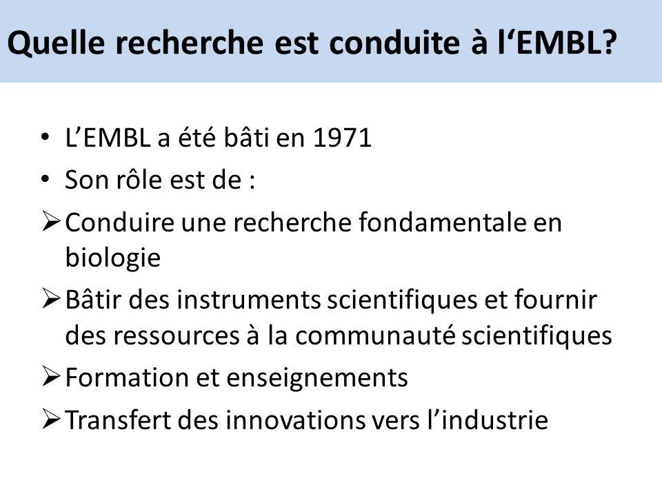 Quelle recherche est conduite à l'EMBL