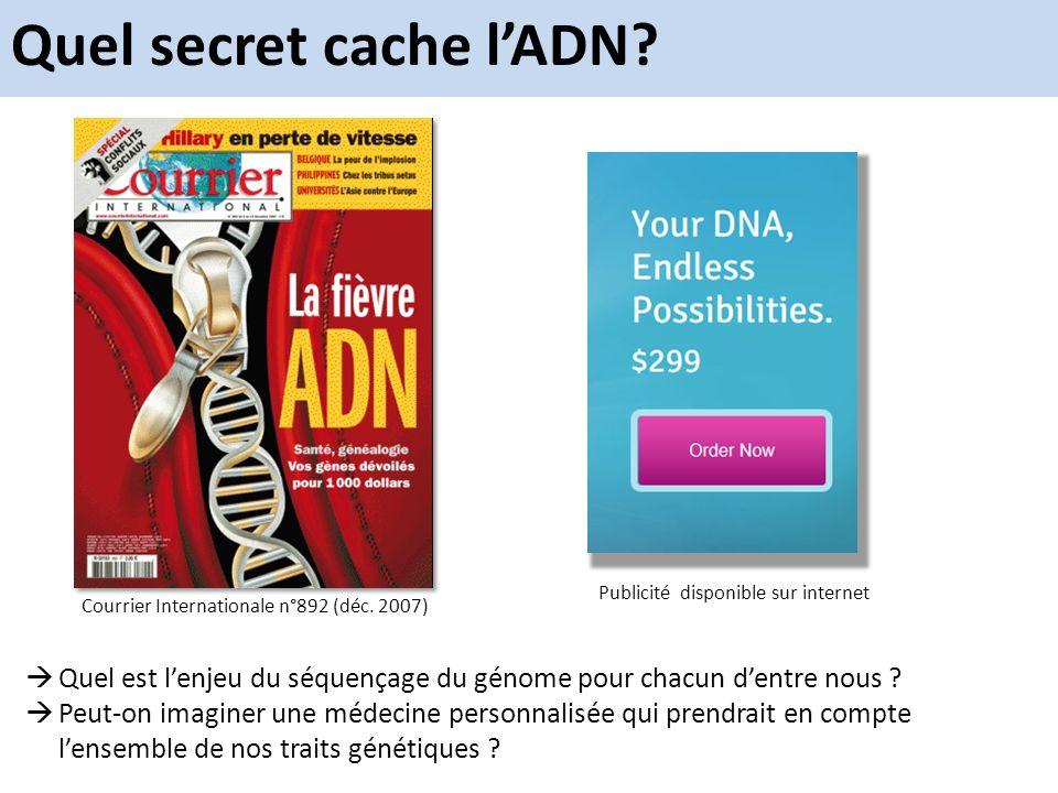 Quel secret cache l'ADN