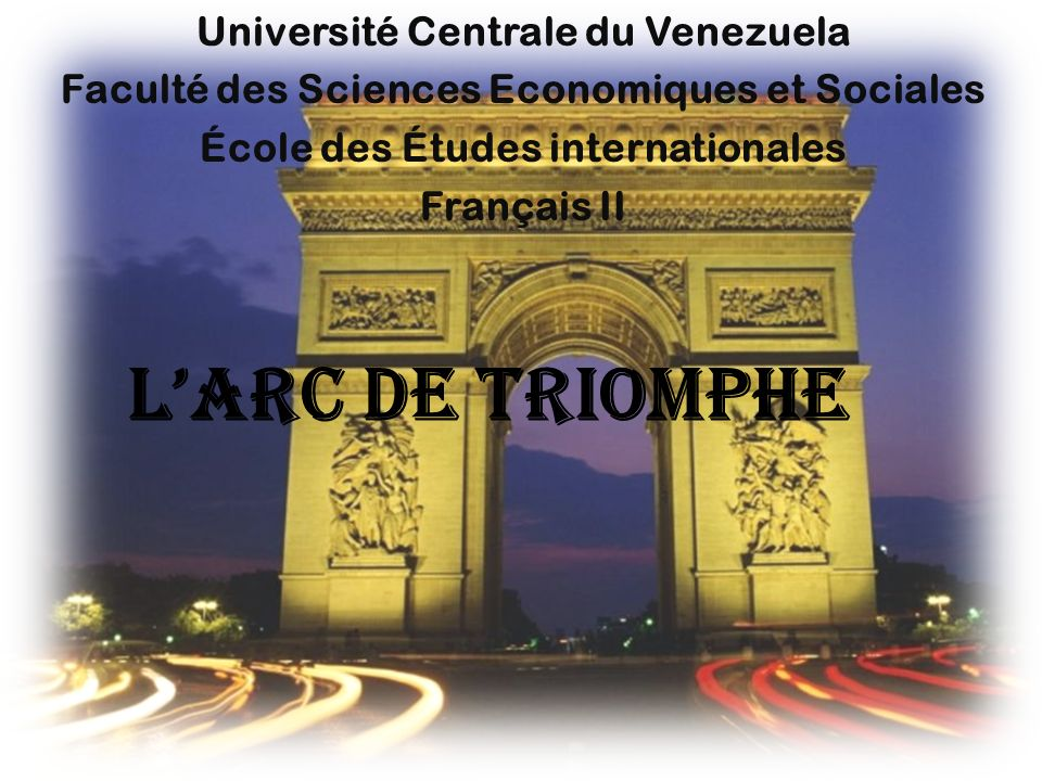 L'arc de triomphe Université Centrale du Venezuela