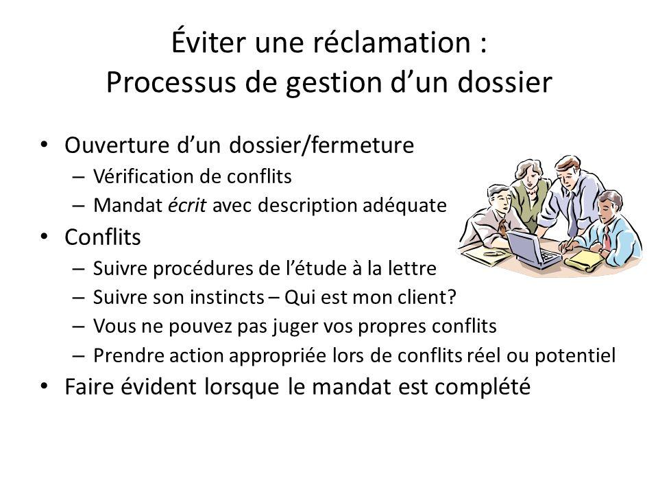 Éviter une réclamation : Processus de gestion d'un dossier