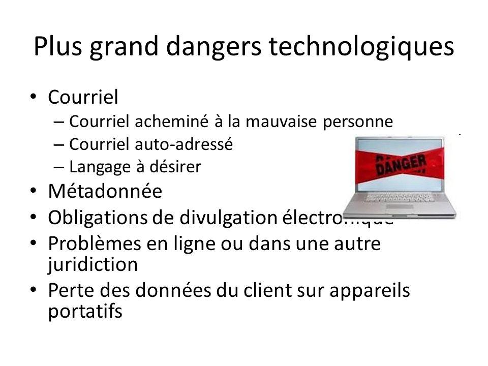Plus grand dangers technologiques