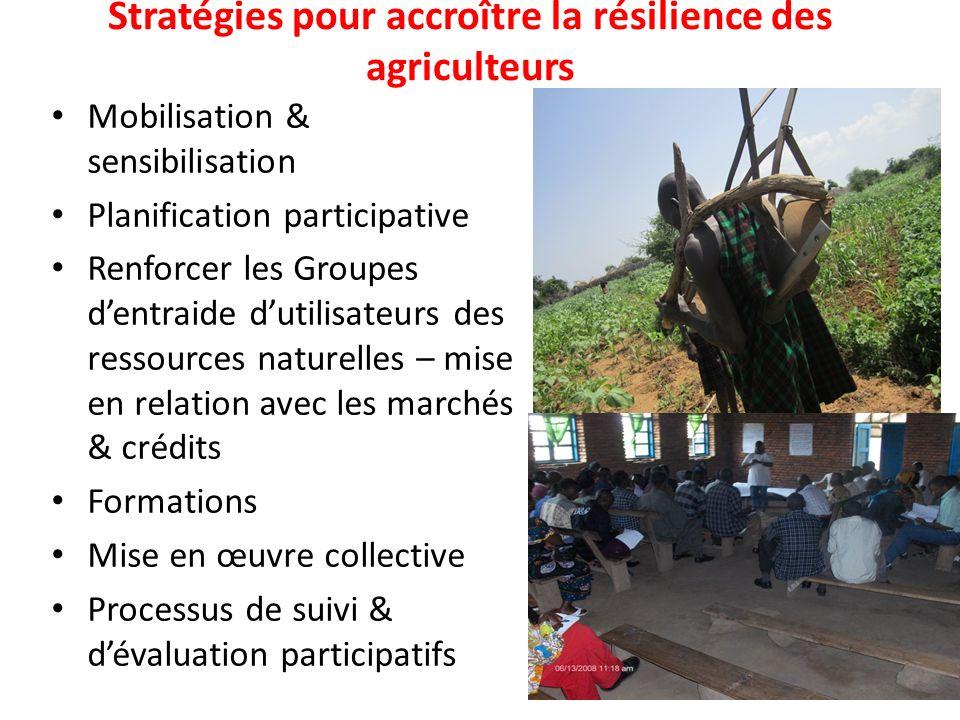 Stratégies pour accroître la résilience des agriculteurs