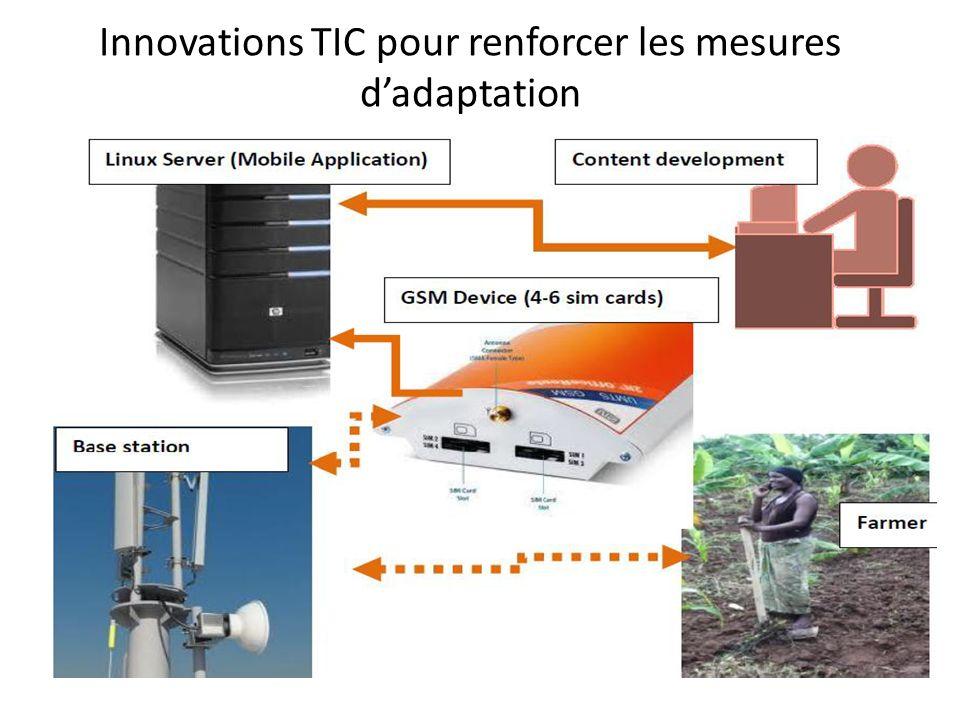 Innovations TIC pour renforcer les mesures d'adaptation