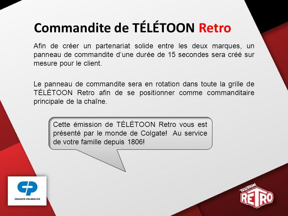 Commandite de TÉLÉTOON Retro