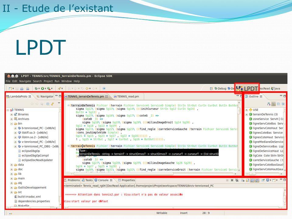 LPDT II - Etude de l'existant