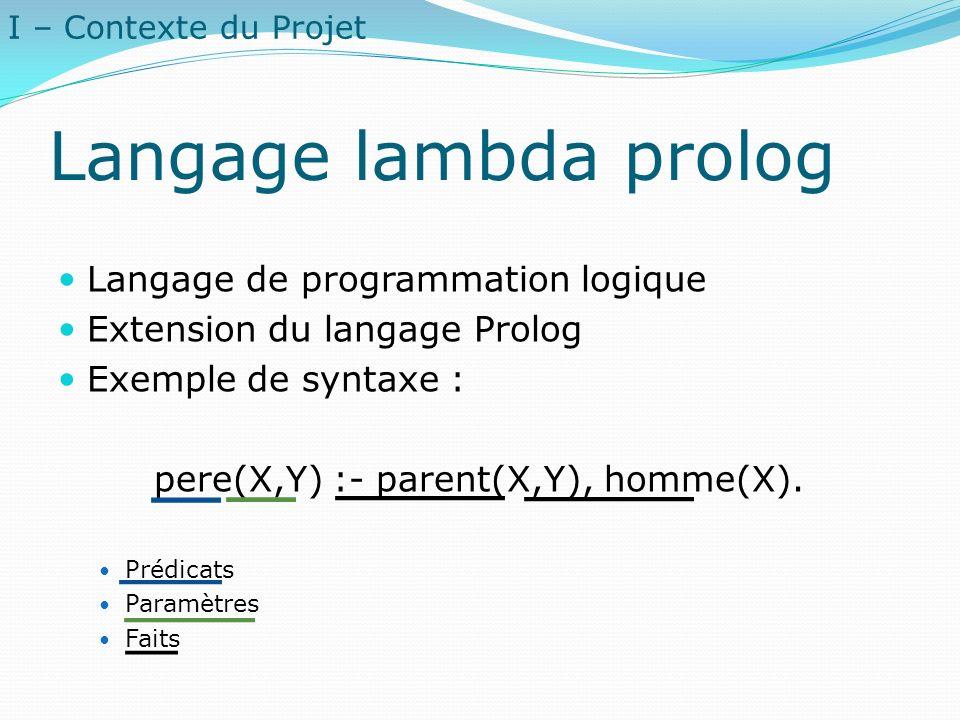 Langage lambda prolog Langage de programmation logique