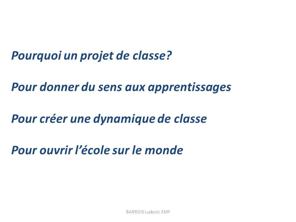 Pourquoi un projet de classe Pour donner du sens aux apprentissages