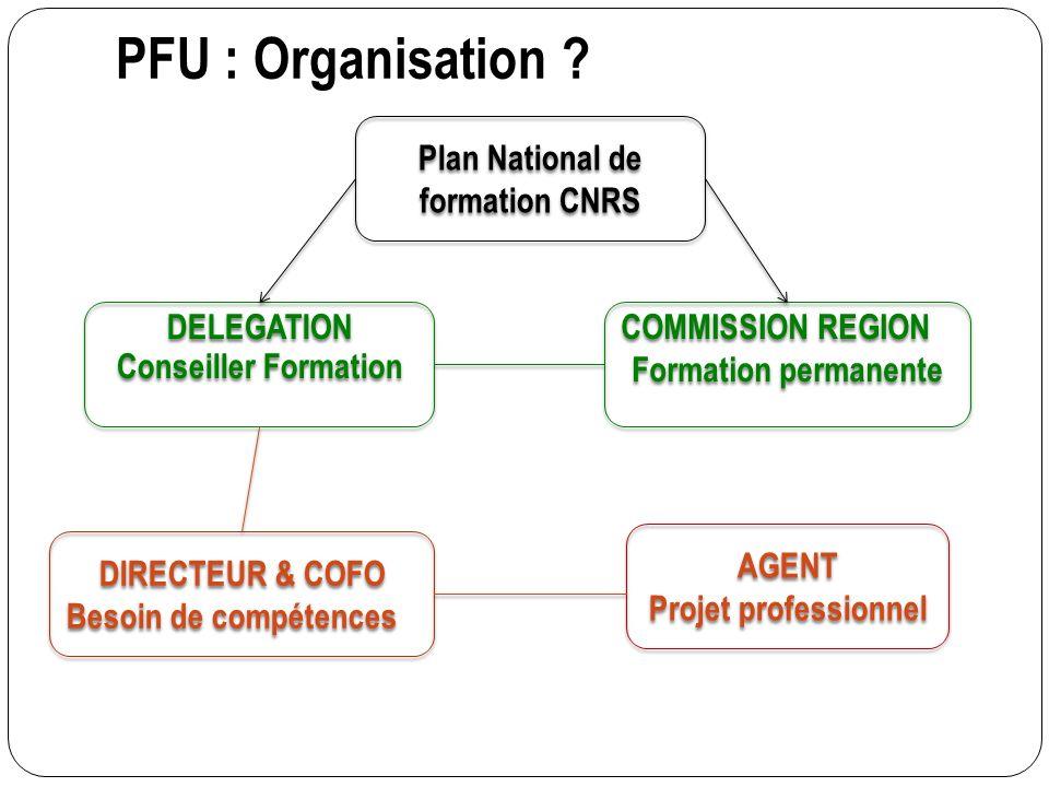 Plan National de formation CNRS DELEGATION Conseiller Formation
