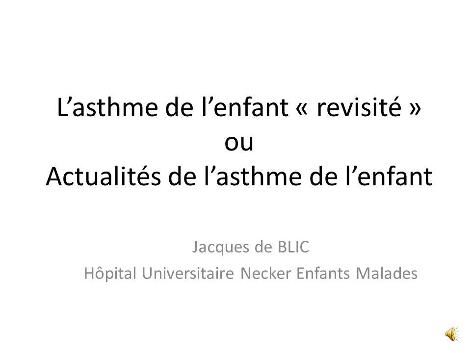 Jacques de BLIC Hôpital Universitaire Necker Enfants Malades