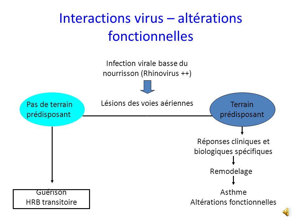 Interactions virus – altérations fonctionnelles