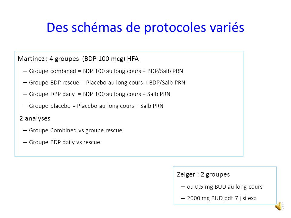 Des schémas de protocoles variés