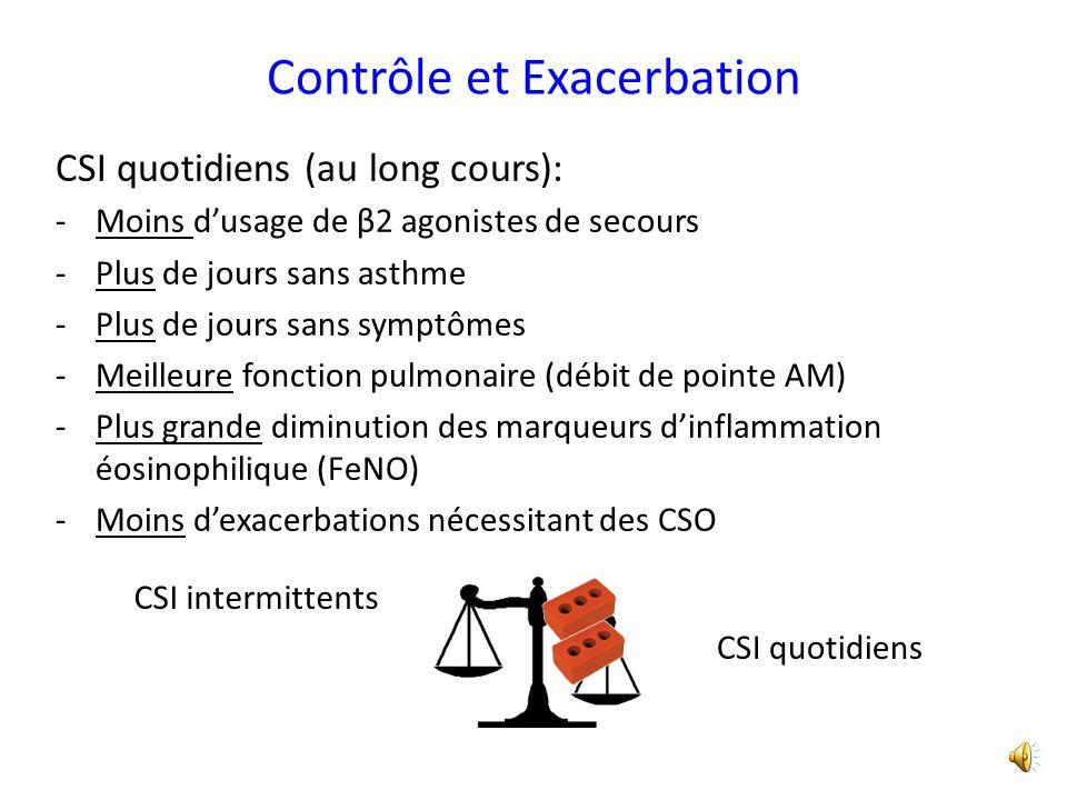 Contrôle et Exacerbation