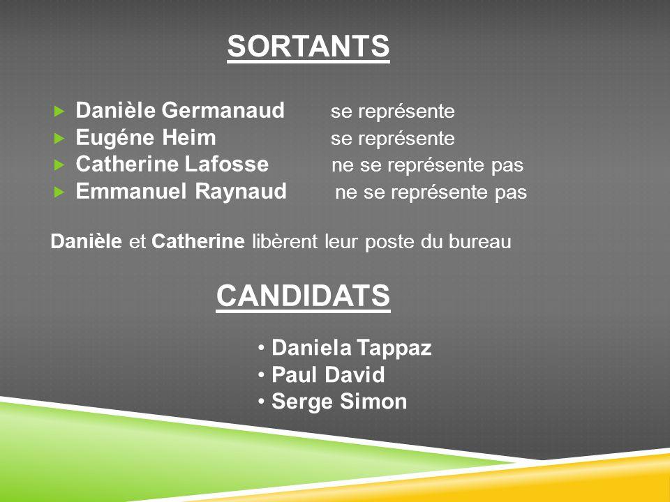 CANDIDATS SORTANTS Danièle Germanaud se représente