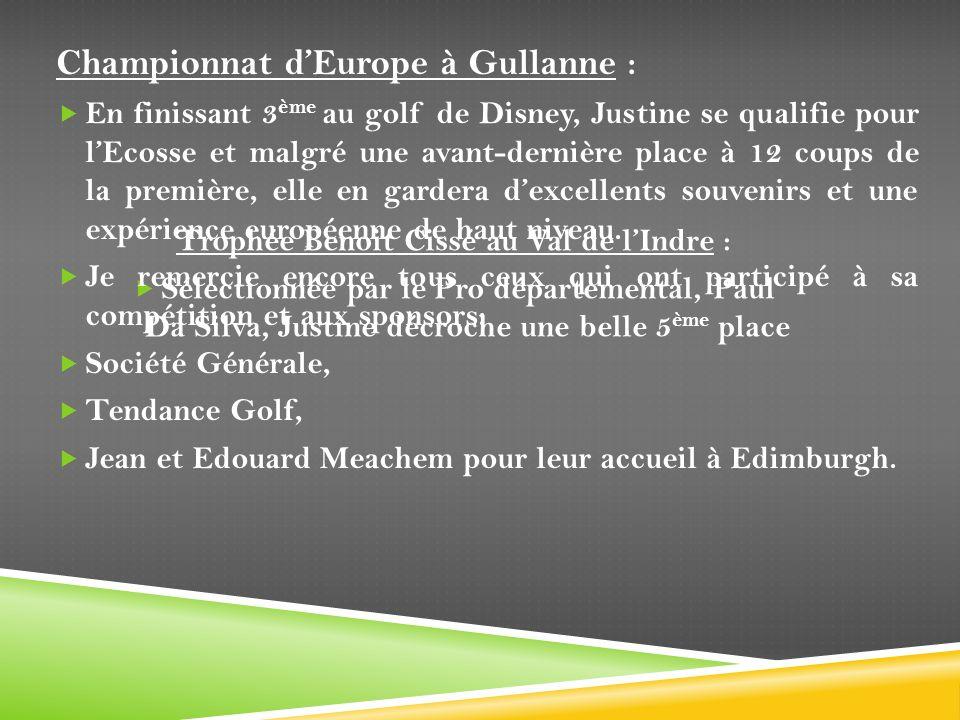 Trophée Benoit Cissé au Val de l'Indre :