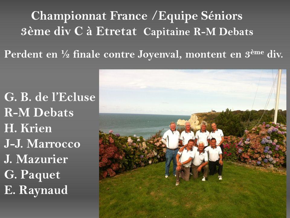 Championnat France /Equipe Séniors