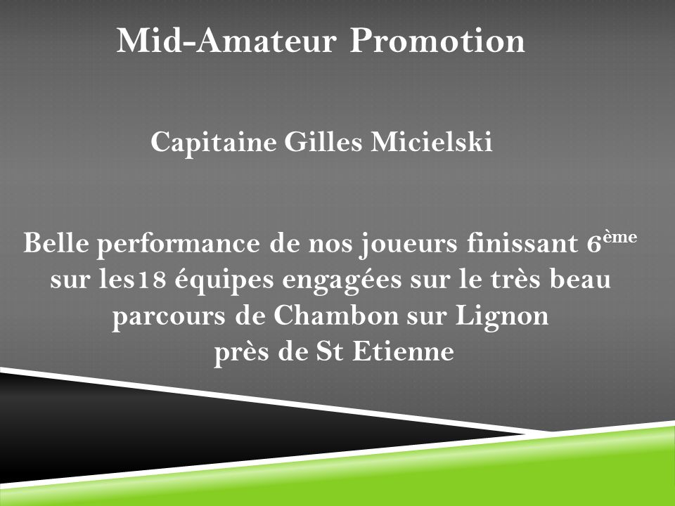 Mid-Amateur Promotion