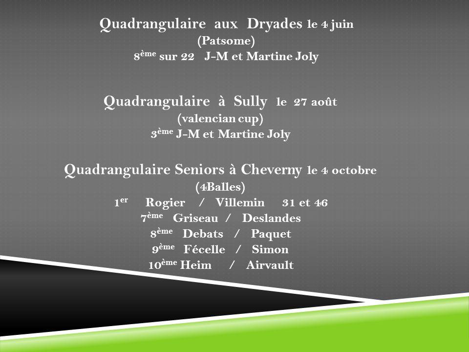 Quadrangulaire aux Dryades le 4 juin