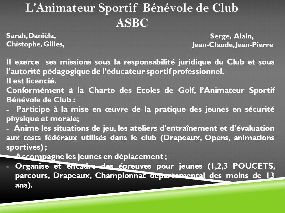 L'Animateur Sportif Bénévole de Club