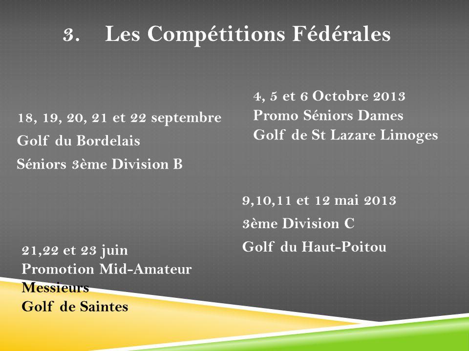 3. Les Compétitions Fédérales