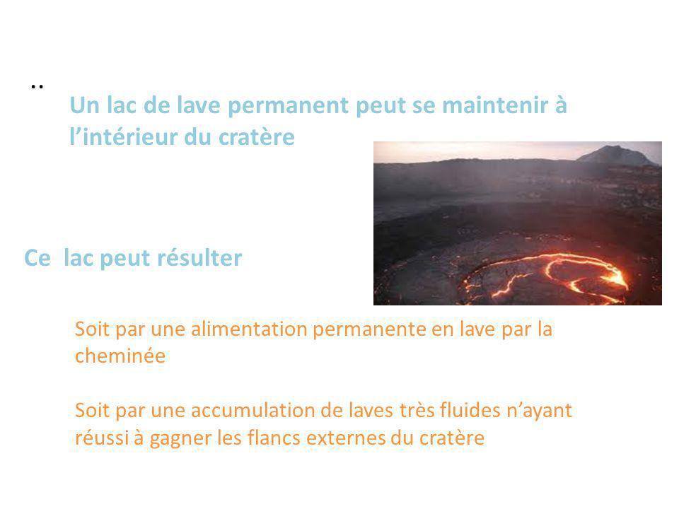 .. Un lac de lave permanent peut se maintenir à l'intérieur du cratère