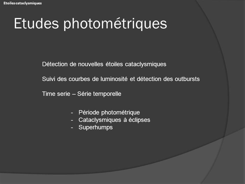 Etudes photométriques