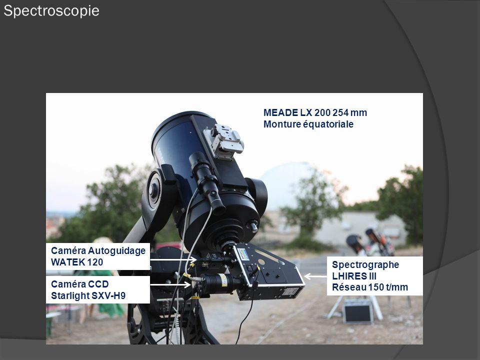 Spectroscopie MEADE LX 200 254 mm Monture équatoriale