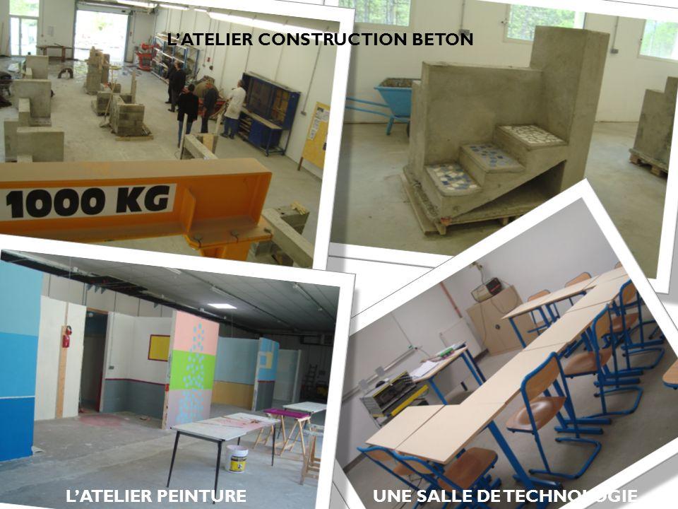 L'ATELIER CONSTRUCTION BETON UNE SALLE DE TECHNOLOGIE