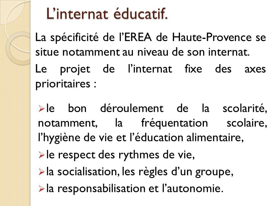 L'internat éducatif. La spécificité de l'EREA de Haute-Provence se situe notamment au niveau de son internat.
