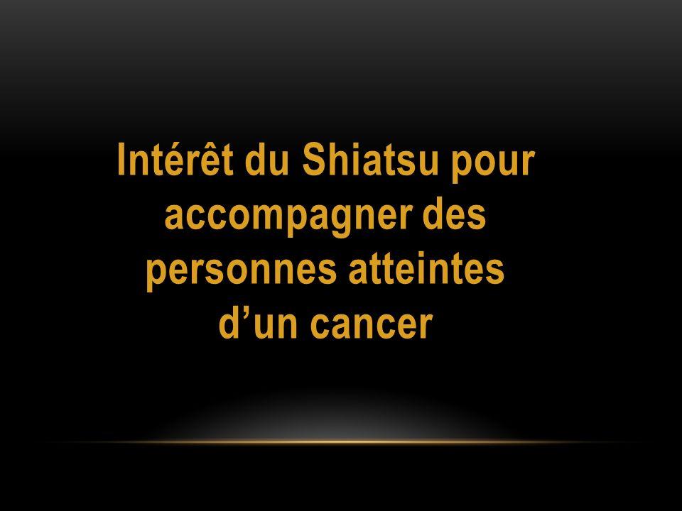 Intérêt du Shiatsu pour accompagner des