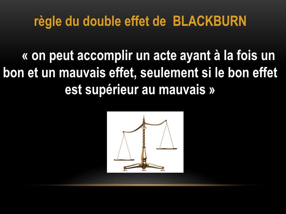 règle du double effet de BLACKBURN